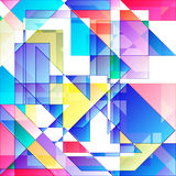Abstract colorful geometric background. Abstract vivid geometric background with colored elements Royalty Free Stock Photography