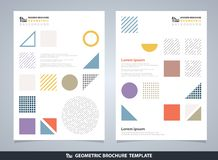 Abstract colorful geometric brochure. Modern design of geometrical elements pattern. Space of texting for art work. You can use for brochure, poster, ad stock illustration