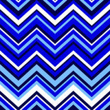 Abstract colorful geometric chevron seamless pattern in blue and white, vector Royalty Free Stock Images