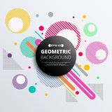 Abstract of colorful geometric circle pattern background. Abstract of colorful geometric circle pattern background, illustration vector eps10 royalty free illustration