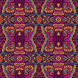 Abstract colorful geometric ethnic doodle seamless pattern ornamental royalty free stock image