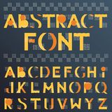 Abstract colorful geometric font in memphis style vector illustration