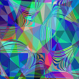 Abstract colorful geometric futuristic background,  illust Stock Photo