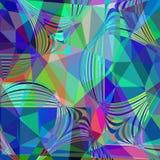 Abstract colorful geometric futuristic background,  illust Stock Photo