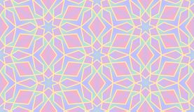Abstract colorful Islamic pattern, geometric seamless pattern royalty free illustration