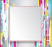 Abstract colorful geometric isometric background Royalty Free Stock Images