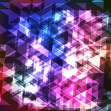 Abstract Colorful Geometric Modern Background With Triangles. Glowing Shape Graphic. Abstract Colorful Geometric Modern Background With Triangles Royalty Free Stock Images