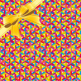 Abstract colorful geometric seamless pattern background whis ribbon Royalty Free Stock Photos