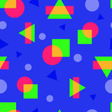 Abstract colorful geometric seamless pattern in modern style. Colorful trend stock illustration