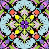 Abstract colorful geometric seamless pattern. Multicolor floral. Background with geometry elements and shapes Stock Photos