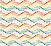 Abstract colorful geometric seamless pattern. Rainbow abstract geometric seamless pattern, colorful curves on light background Stock Illustration