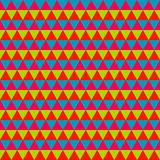 Abstract colorful geometric seamless pattern Stock Image