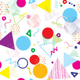 Abstract colorful geometric seamless pattern. Vector hipster geometric background. Good for design textile fabric, wrapping paper and wallpaper on the site stock illustration