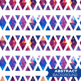 Abstract colorful geometric triangles background. Royalty Free Stock Images