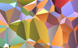 Abstract colorful geometric triangles background, polygonal design. Stock Photography