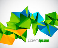 Abstract colorful geometric vector background Royalty Free Stock Photography