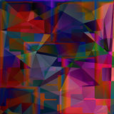 Abstract colorful geometrical image. Cute illustration Stock Image