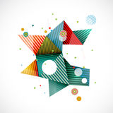 Abstract colorful geometrical template with creative line and triangle graphic decoration concept, vector Stock Images