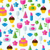 Abstract colorful gifts seamless pattern. Birthday, romantic, ho Stock Images