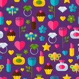 Abstract colorful gifts seamless pattern. Birthday, Valentines, Stock Image