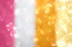 Abstract colorful glitter bokeh lights. defocused lights background. Royalty Free Stock Photos