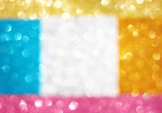 Abstract colorful glitter bokeh lights. defocused lights background. Stock Photo
