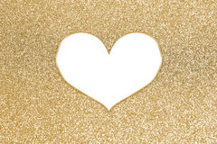 Abstract colorful glitter with heart frame Royalty Free Stock Photos
