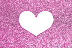 Abstract colorful glitter with heart frame Stock Images