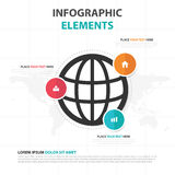 Abstract colorful global business Infographics elements, presentation template flat design vector illustration for web design Stock Photography