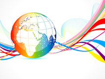 Abstract colorful globe background Royalty Free Stock Photo