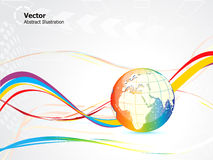 Abstract colorful globe design Stock Photos