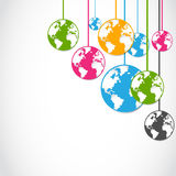 Abstract colorful globe stickers Stock Image