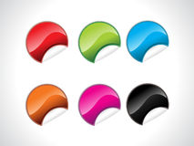 Abstract colorful glossy stickers Royalty Free Stock Photography
