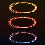 Abstract colorful glow light rings. Vector design element Stock Image
