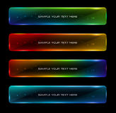 Abstract colorful glowing options. Useful for presentations or web design Royalty Free Illustration
