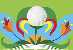 Abstract colorful golf flower.Green golf motive Stock Image