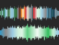 Abstract colorful gradient indicator set Royalty Free Stock Photo