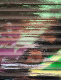 Abstract colorful graffiti fragment Royalty Free Stock Photos