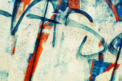 Abstract colorful graffiti fragment Stock Photography