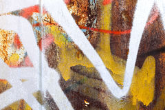 Abstract colorful graffiti fragment Stock Photos