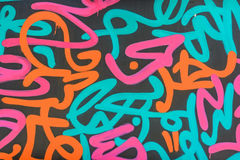 Abstract colorful graffity background Royalty Free Stock Images