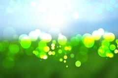 Abstract colorful green blue bokeh lights background texture. Hintergruende Vector Illustration