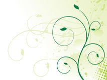 Abstract colorful green floral background. With grunge vector illustration Royalty Free Stock Images
