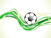 Abstract colorful green football wave Royalty Free Stock Image