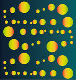 Abstract colorful green orange circles background. For web and graphic use royalty free illustration