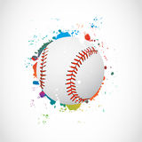 Abstract Colorful Grunge Baseball Ball Royalty Free Stock Photos