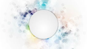 Abstract colorful grunge circles video animation