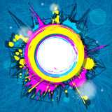 Abstract colorful grunge circular frame Stock Photography