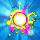 Abstract colorful grunge frame Stock Images