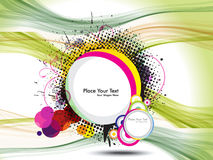 Abstract Colorful Grunge Full Banner With Wave Royalty Free Stock Image